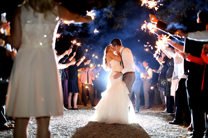Annapolis Wedding Photographer fire works send off