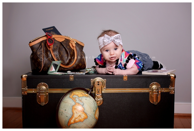 Baby photography travel themed