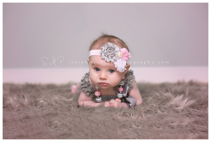 4 month old baby girl portraits
