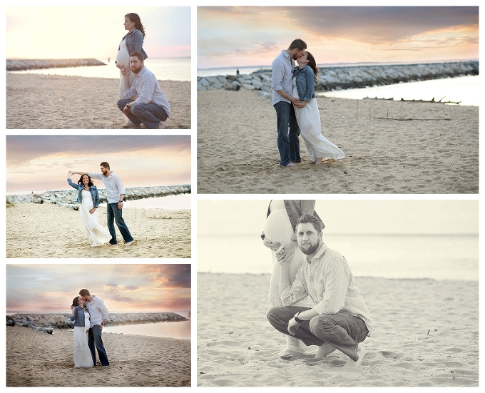 Maryland Maternity Photographer matapeak beach portraits