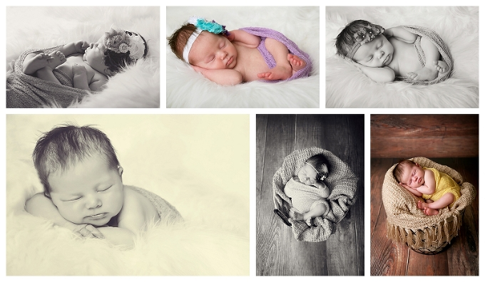 Annapolis Newborn Photographer baby girl newborn portraits featuring handmade headbands