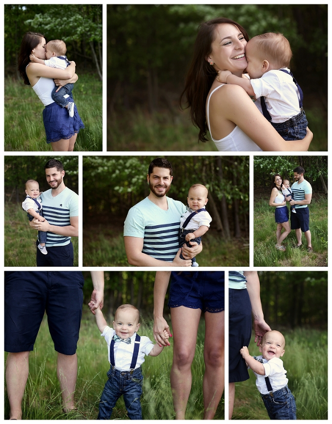 pasadena maryland family photographer wooded family session