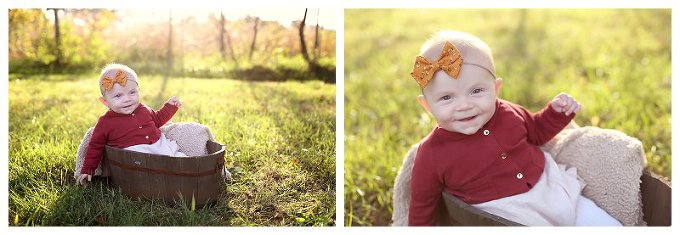 Annapolis Family Photographer  6 month fall photos