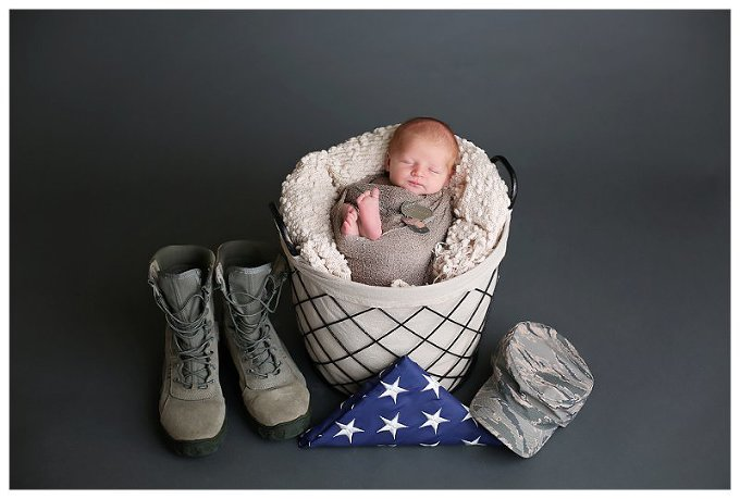 Annapolis Newborn Photographer military baby